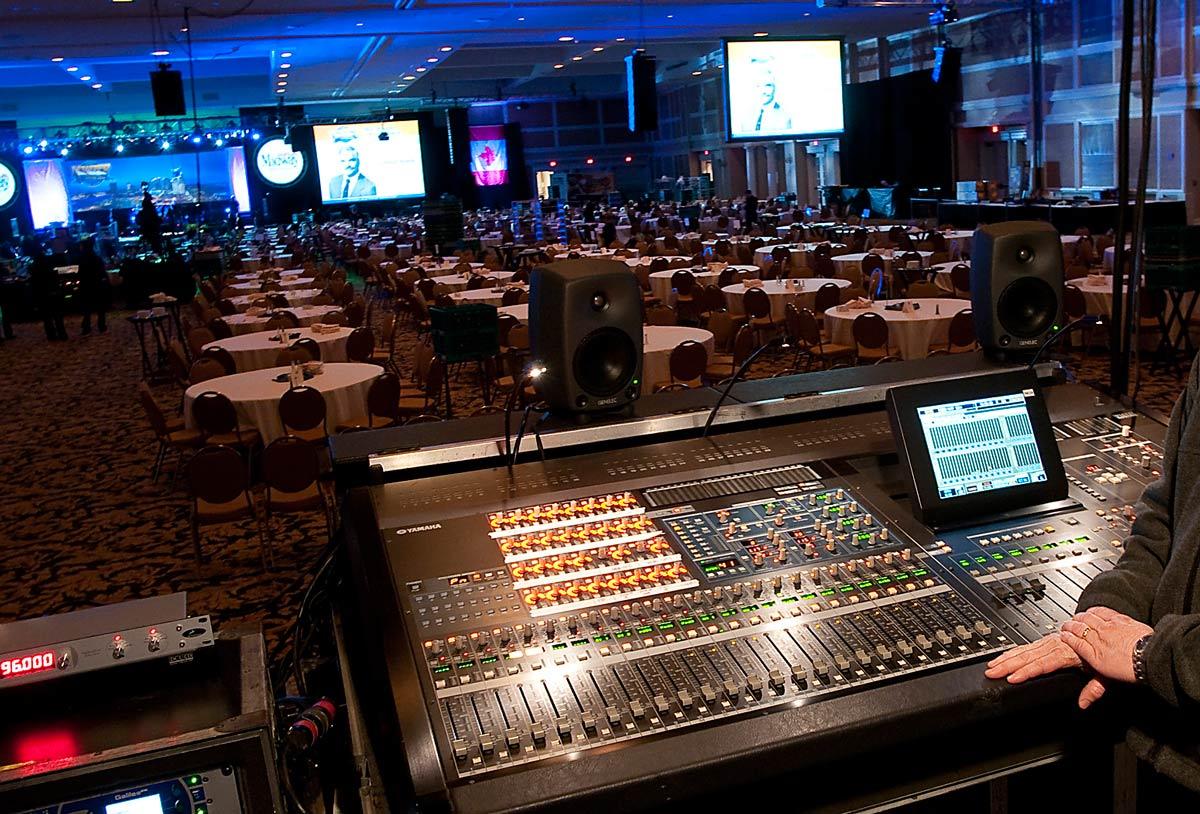 Mixerbord vid konferens